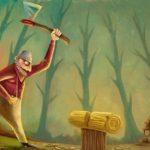El leñador y su hacha